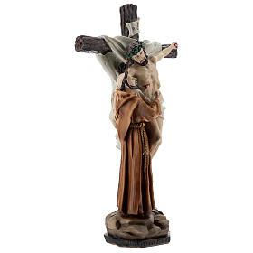 Statue Saint François dépose Jésus de la Croix résine 30 cm s3