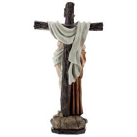 Statue Saint François dépose Jésus de la Croix résine 30 cm s4
