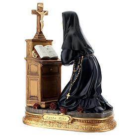 Sainte Rita prière à genoux statue résine 20 cm s4