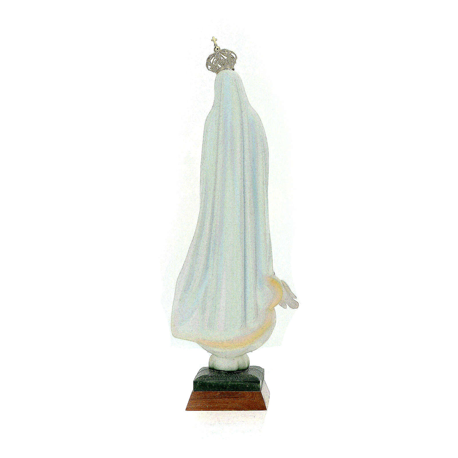 Fatima statue in painted hollow resin 65 cm 4