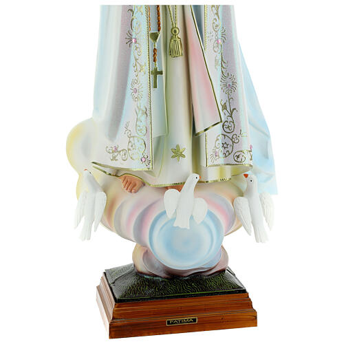 Fatima statue in hollow resin 85 cm hand painted 5