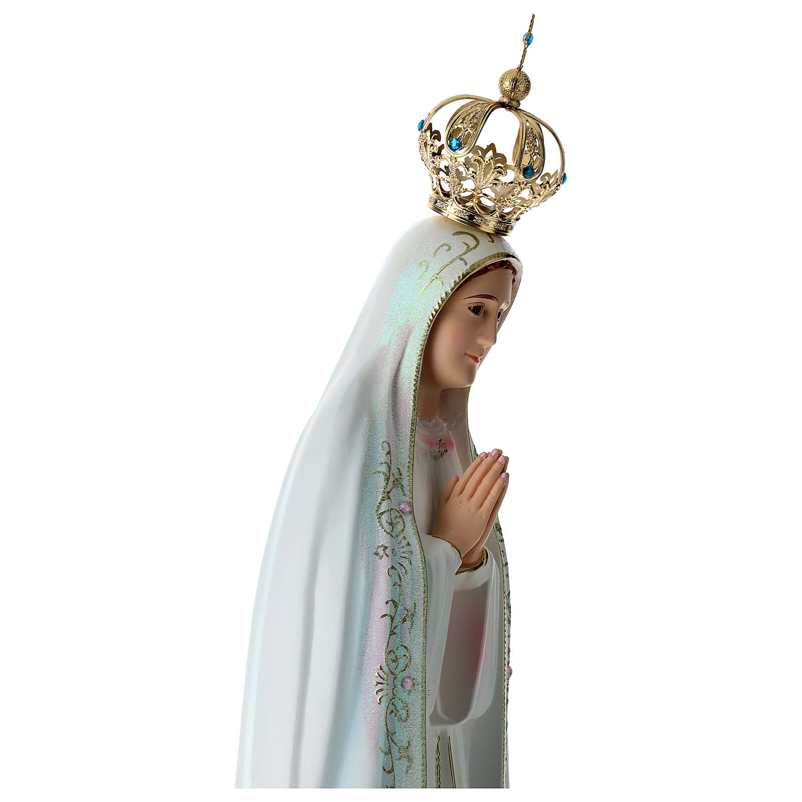 Our Lady of Fatima statue in hollow resin hand painted 100 cm 4