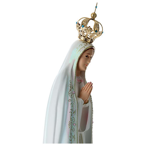 Our Lady of Fatima statue in hollow resin hand painted 100 cm 7