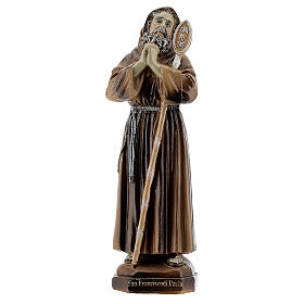 St. Francis from Paola Charitas resin statue 12 cm