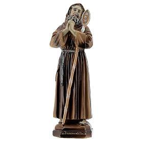 San Francesco da Paola Charitas statua resina 12 cm