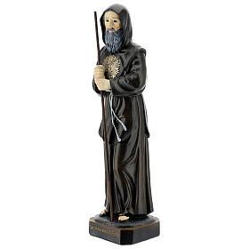 Estatua San Francisco de Paula bastón resina 30 cm
