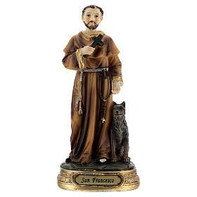 San Francisco cruz lobo estatua resina 13 cm