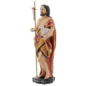 Estatua San Juan Bautista Ecc Agnus Dei resina 20 cm