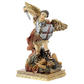 St. Michael the Arcangel drives out the devil resin statue 11 cm