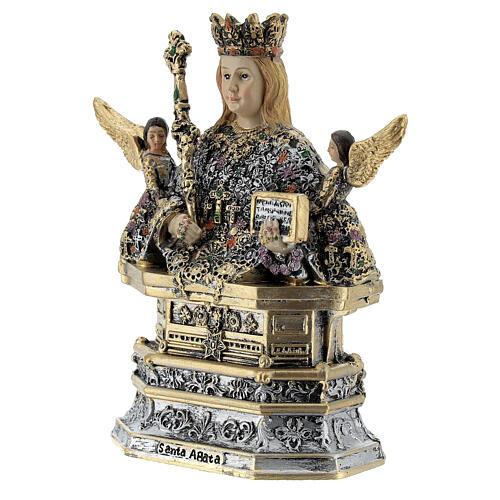 Santa Ágata busto resina coloreada 10x10x5 cm 2