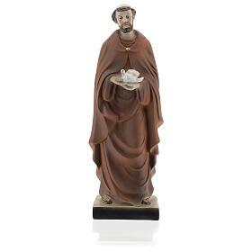 Estatua San Francisco con paloma resina 5x20x5 cm