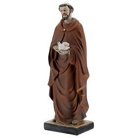 Statua San Francesco con colomba resina 5x20x5 cm