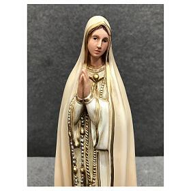 Imagem Nossa Senhora de Fátima resina pintada 30 cm