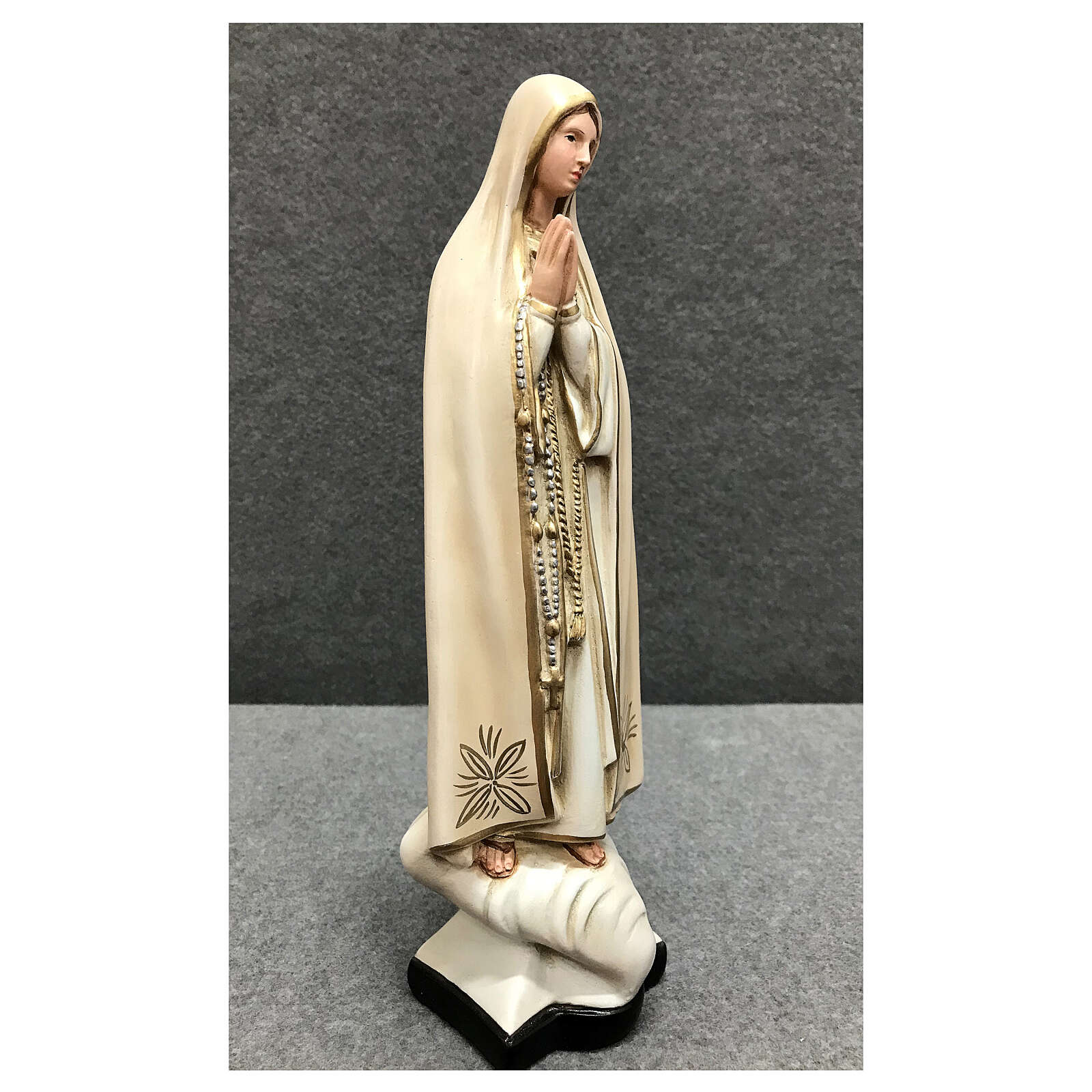 Our Lady of Fatima statue 30 cm in painted resin 4