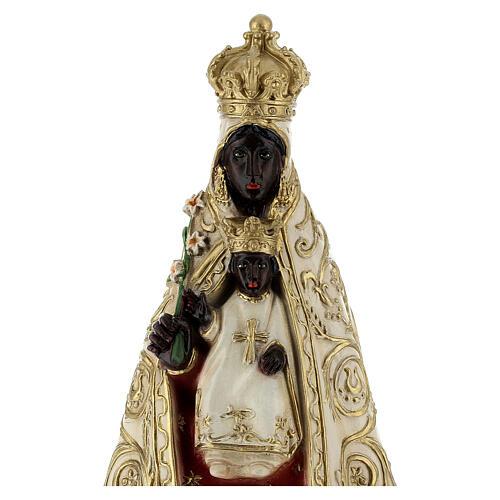 Statue aus Harz Schwarze Madonna, 18 cm