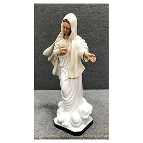 Our Lady of Medjugorje statue gold decor 28 cm painted resin s3