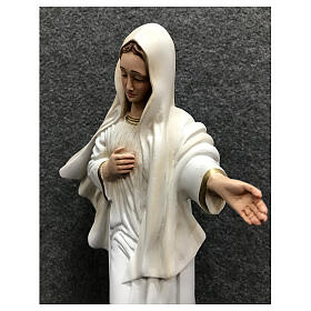 Our Lady of Medjugorje statue gold decor 28 cm painted resin s4
