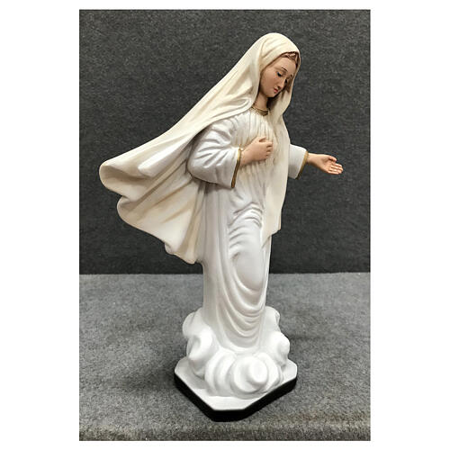 Our Lady of Medjugorje statue gold decor 28 cm painted resin 5