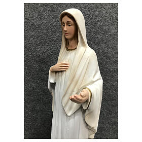 Our Lady Queen of Peace statue painted resin white dress 30 cm s6