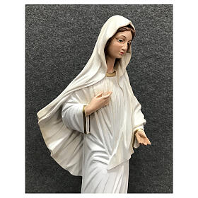 Our Lady Queen of Peace statue cloud base 40 cm painted resin s4