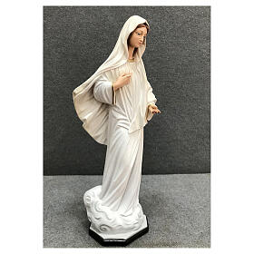 Our Lady Queen of Peace statue cloud base 40 cm painted resin s5