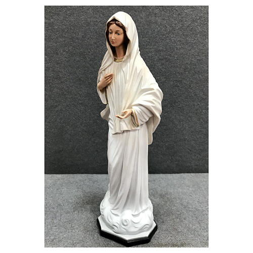 Our Lady Queen of Peace statue cloud base 40 cm painted resin 3