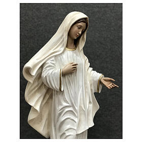 Our Lady of Medjugorje statue white tunic 60 cm painted resin s7