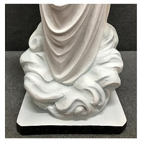 Our Lady of Medjugorje statue white tunic 60 cm painted resin s9