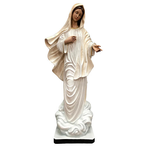 Our Lady of Medjugorje statue white tunic 60 cm painted resin 1