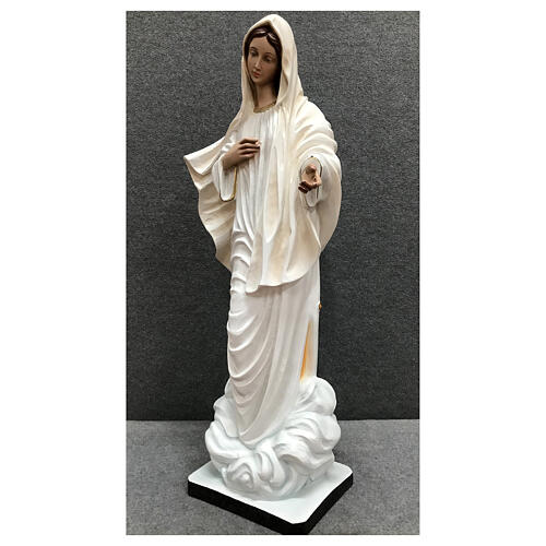Our Lady of Medjugorje statue white tunic 60 cm painted resin 3