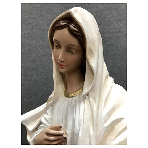 Our Lady of Medjugorje statue white tunic 60 cm painted resin 6