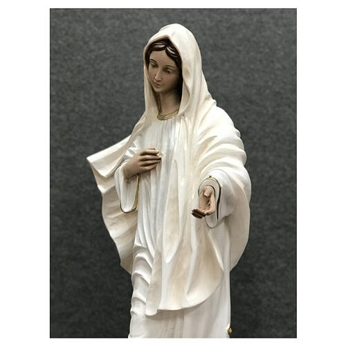 Our Lady of Medjugorje statue white tunic 60 cm painted resin 8