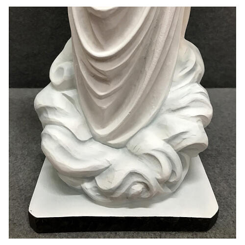 Our Lady of Medjugorje statue white tunic 60 cm painted resin 9