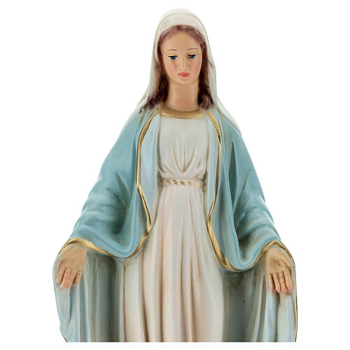 Our Lady of Grace statue snake 25 cm painted resin