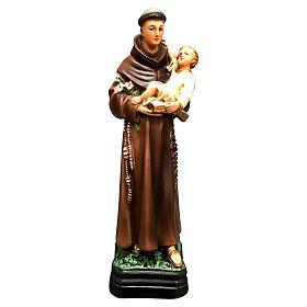 Estatua San Antonio Niño en brazos 30 cm resina pintada