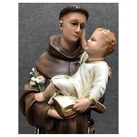Estatua San Antonio resina pintada 40 cm