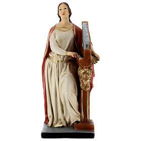 Statua Santa Cecilia 40 cm resina dipinta