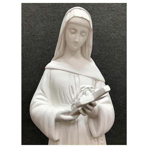 Estatua Santa Rita 60 cm resina blanco exterior