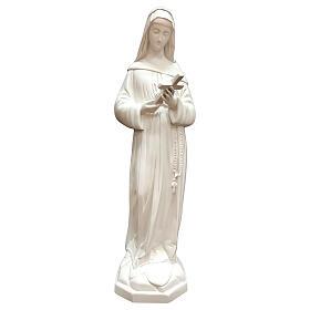 Imagem Santa Rita de Cássia coroa de espinhos resina branca 60 cm para exterior