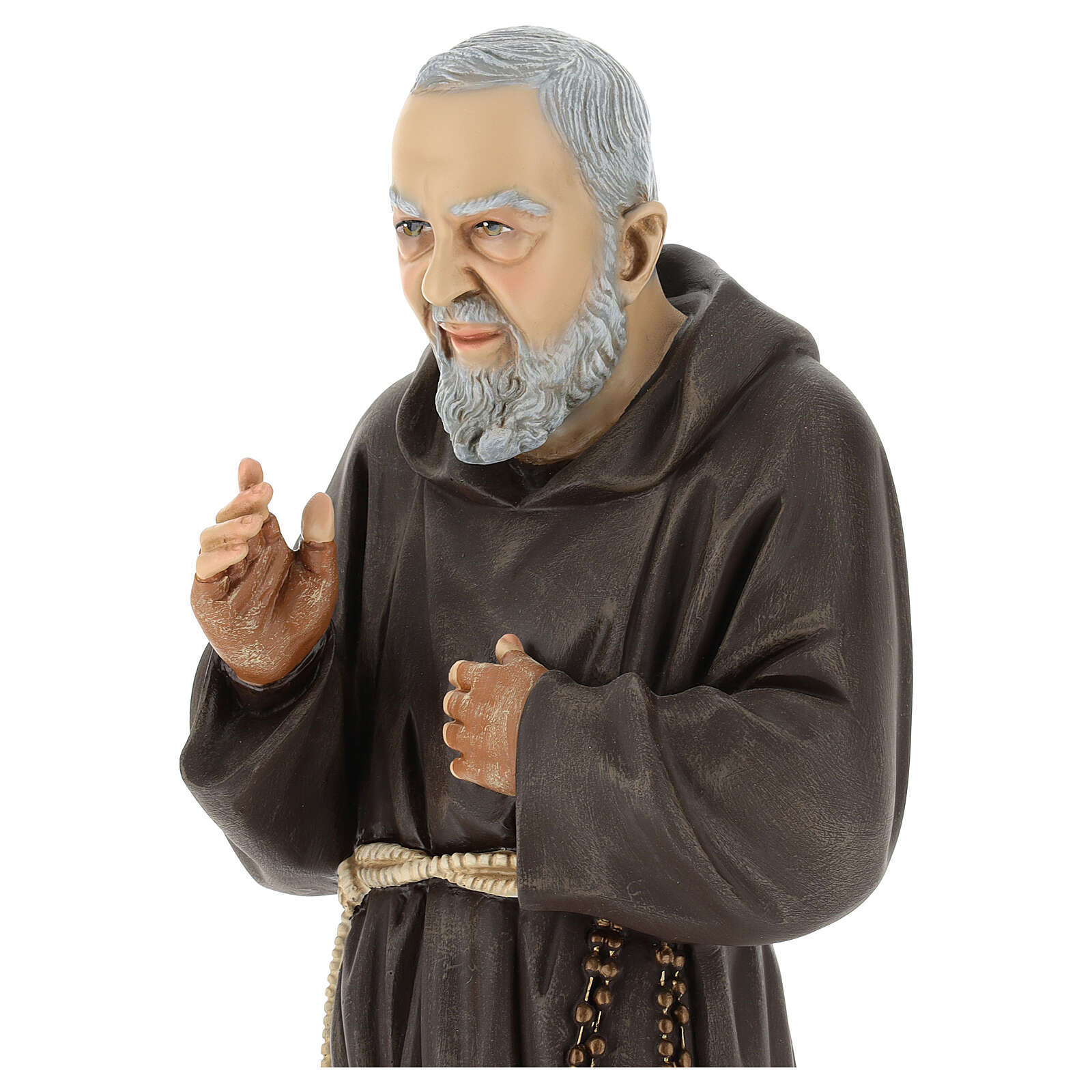 Statue Saint Pio 60 cm colorée en résine 4