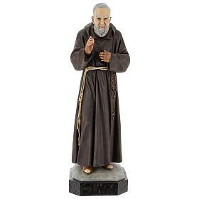 Statue Saint Pio 60 cm colorée en résine s1