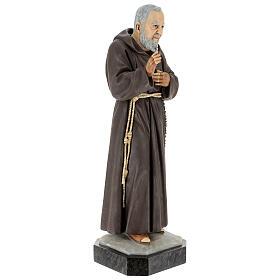 Statue Saint Pio 60 cm colorée en résine s5