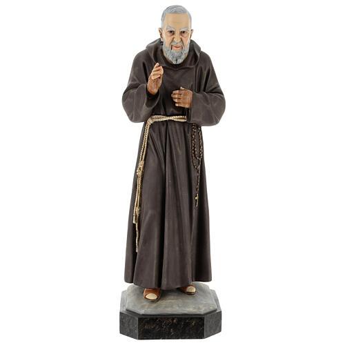 Statue Saint Pio 60 cm colorée en résine 1