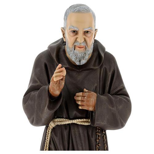 Statue Saint Pio 60 cm colorée en résine 2