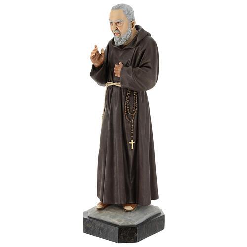 Statue Saint Pio 60 cm colorée en résine 3