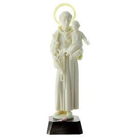 Estatua San Antonio fosforescente PVC 25 cm