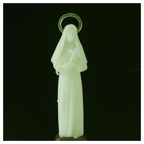 Estatua Santa Rita fosforescente 12 cm