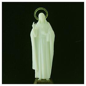 Statua Sacro Cuore di Gesù fosforescente 12 cm