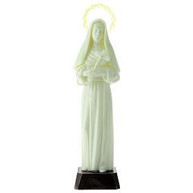 Fluorescent plastic statue of Saint Rita 24 cm high