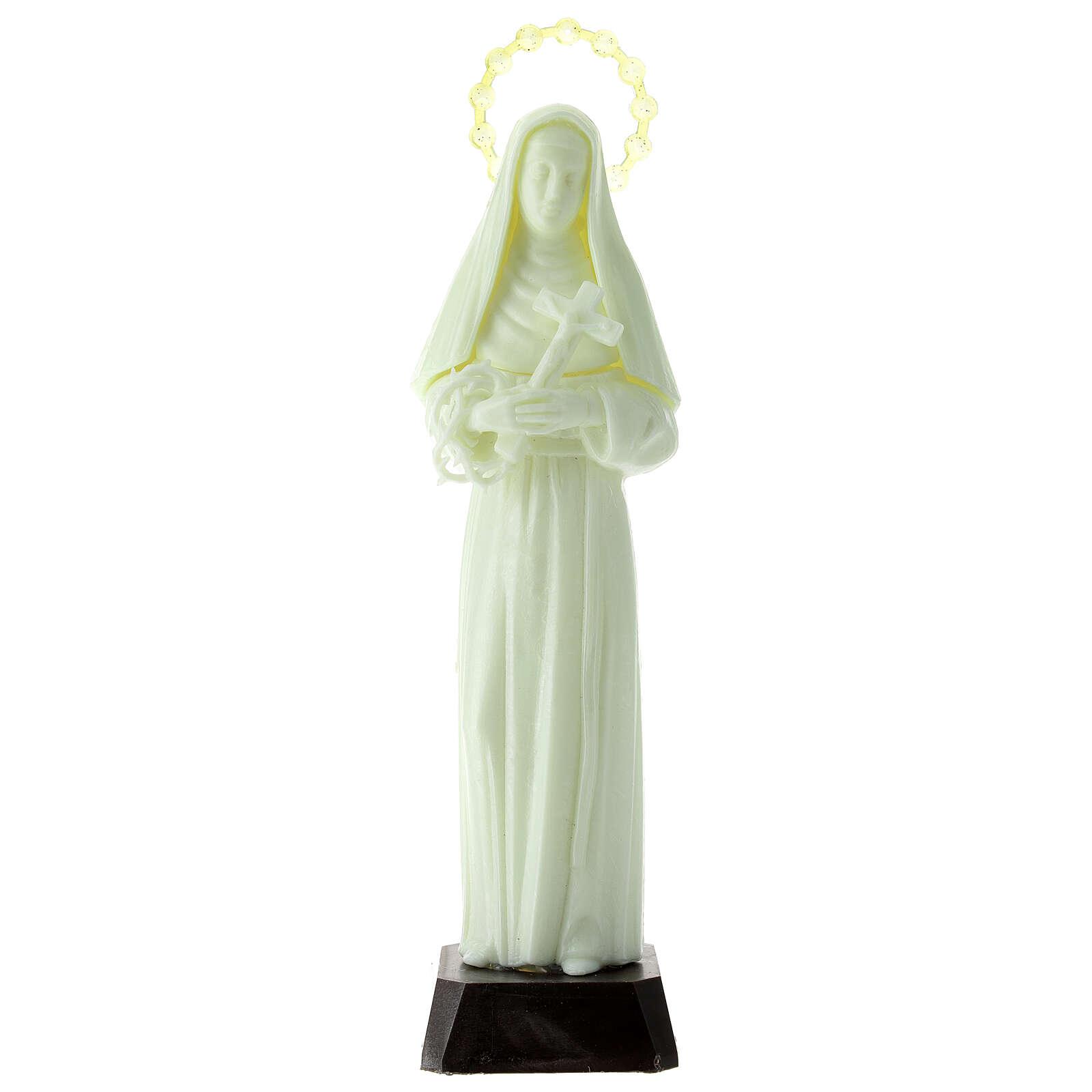 Estatua plástico Santa Rita 24 cm fluorescente 4